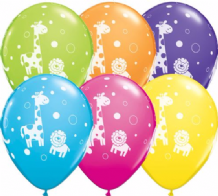Cute Jungle Animals - 11 Inch Balloons 25pcs